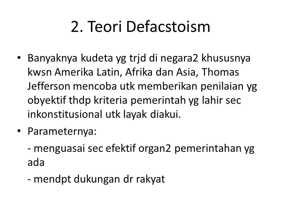 2. Teori Defacstoism