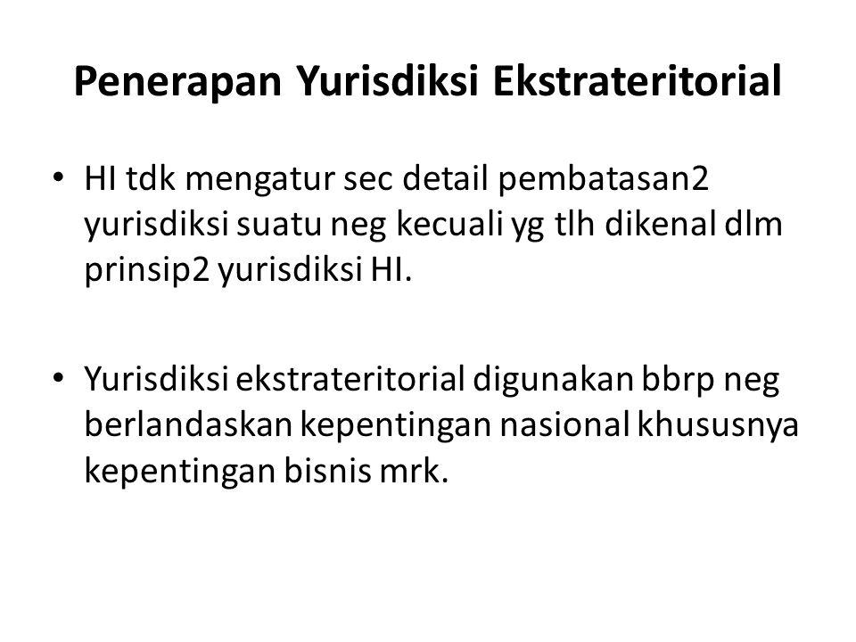 Penerapan Yurisdiksi Ekstrateritorial