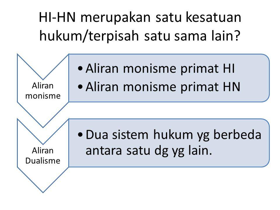 HI-HN merupakan satu kesatuan hukum/terpisah satu sama lain