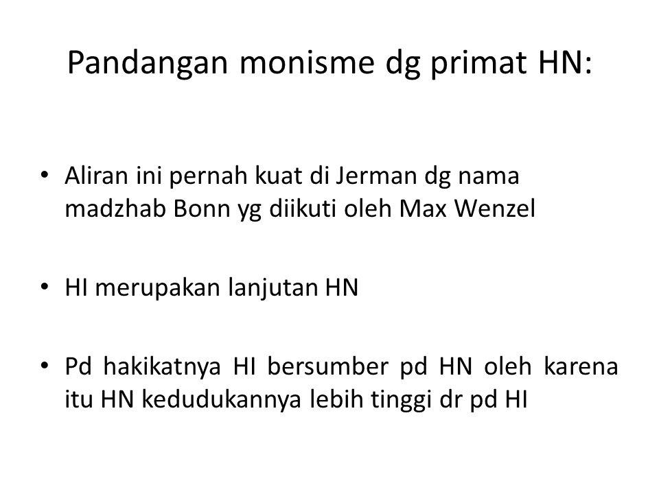 Pandangan monisme dg primat HN: