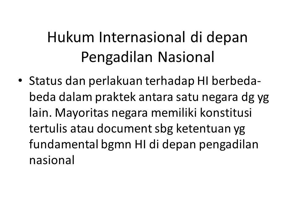 Hukum Internasional di depan Pengadilan Nasional