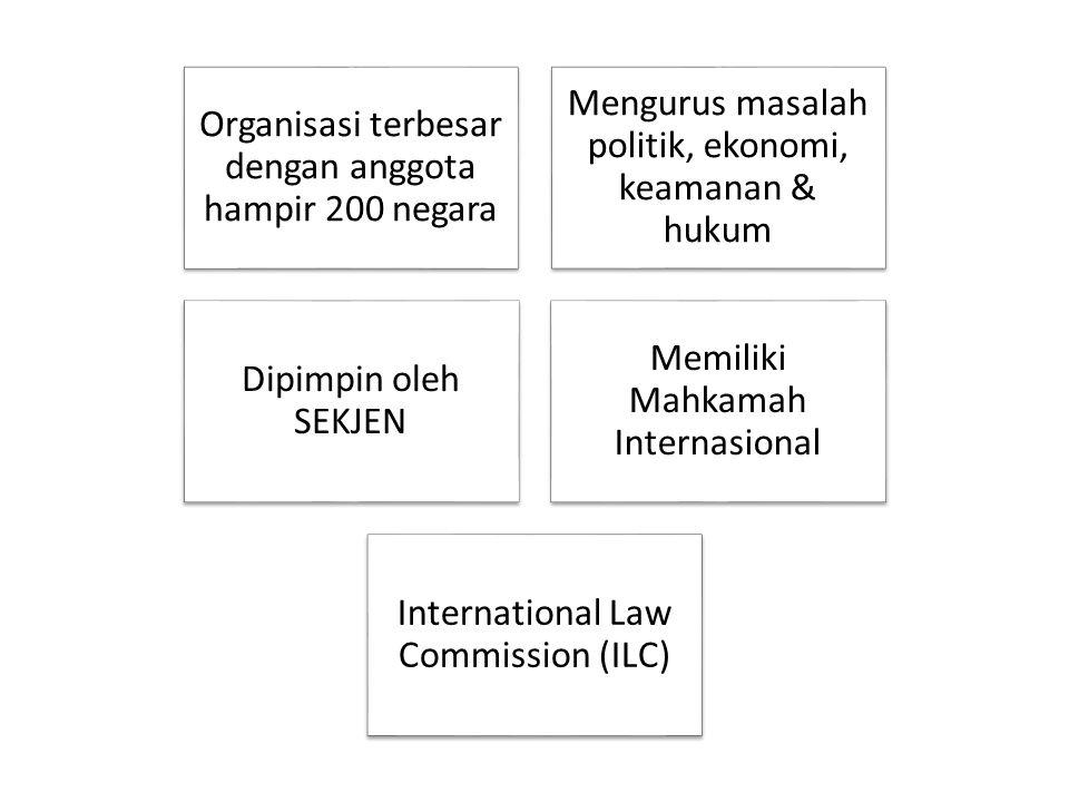 Organisasi terbesar dengan anggota hampir 200 negara