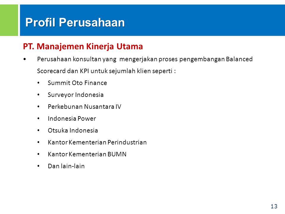 Profil Perusahaan PT. Manajemen Kinerja Utama