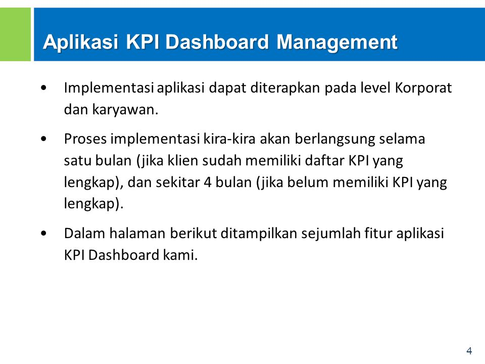 Aplikasi KPI Dashboard Management