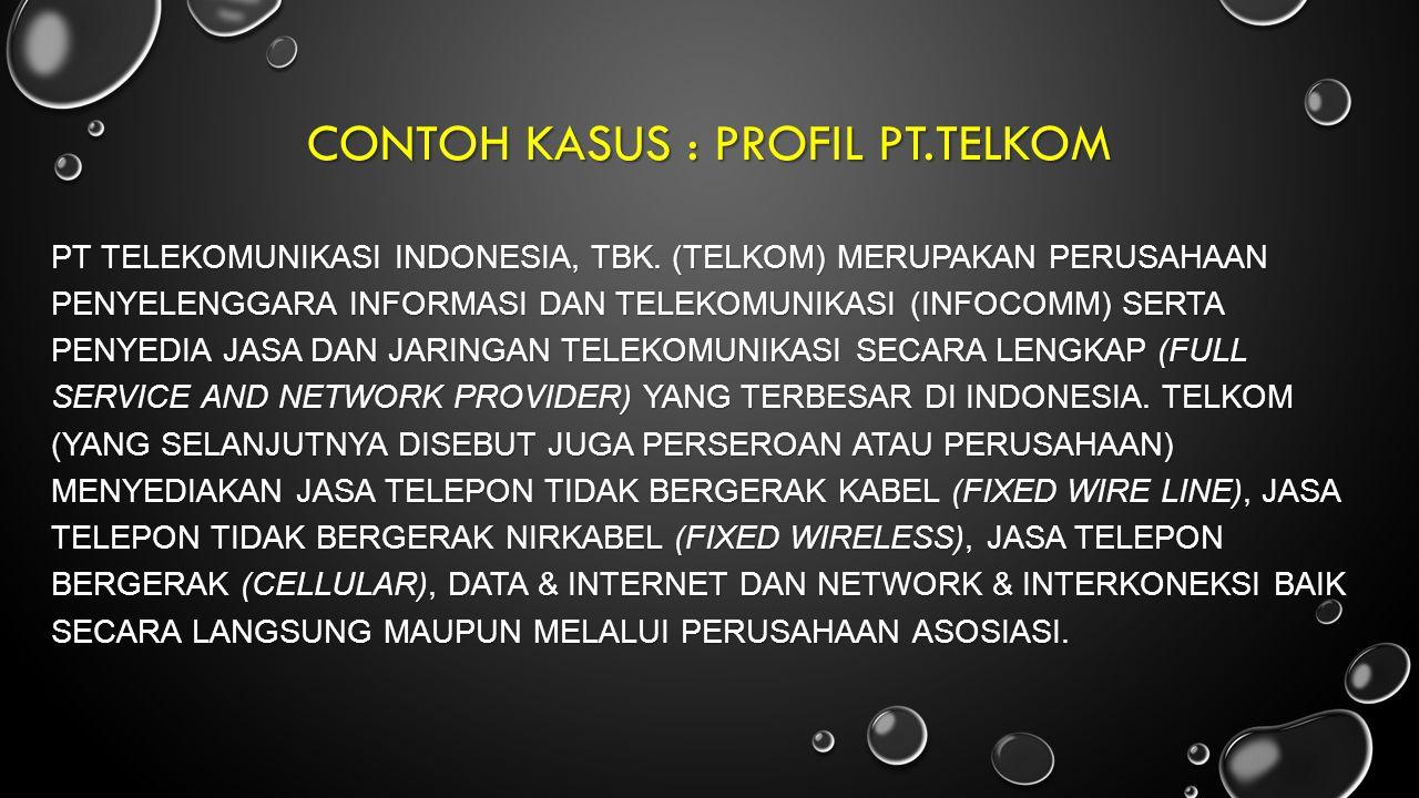 conTOH KASUS : PROFIL PT.TELKOM