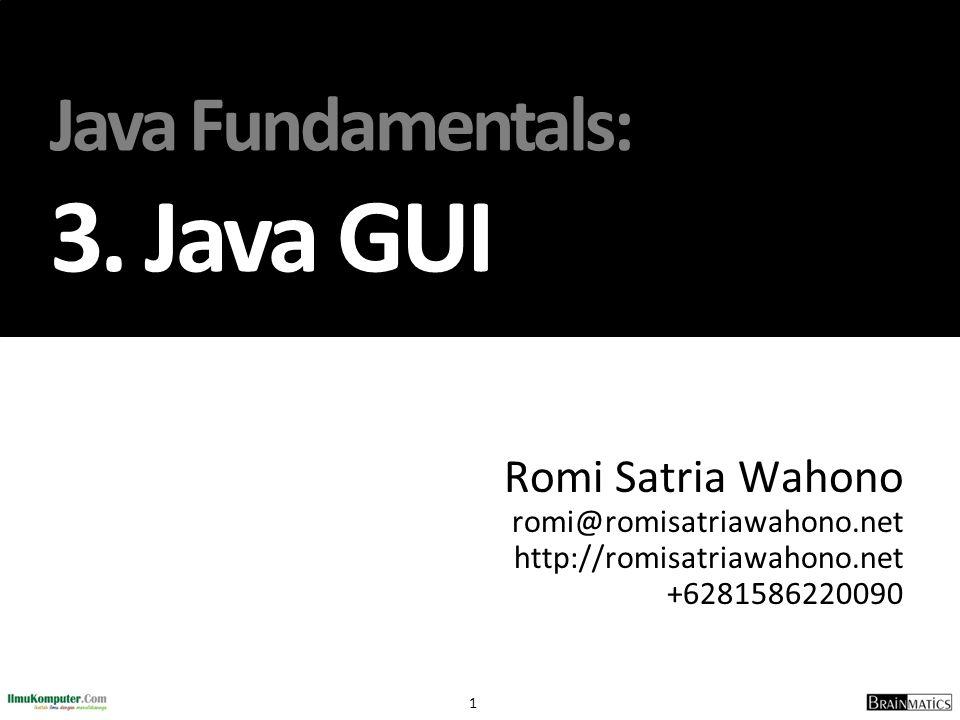Java Fundamentals: 3. Java GUI