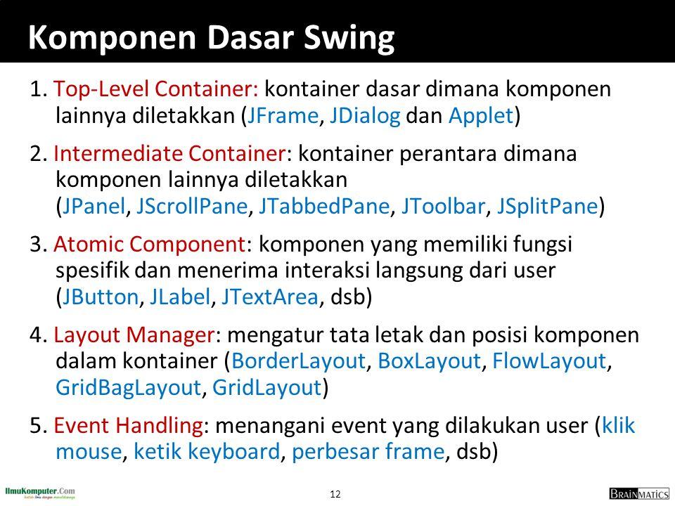 Komponen Dasar Swing
