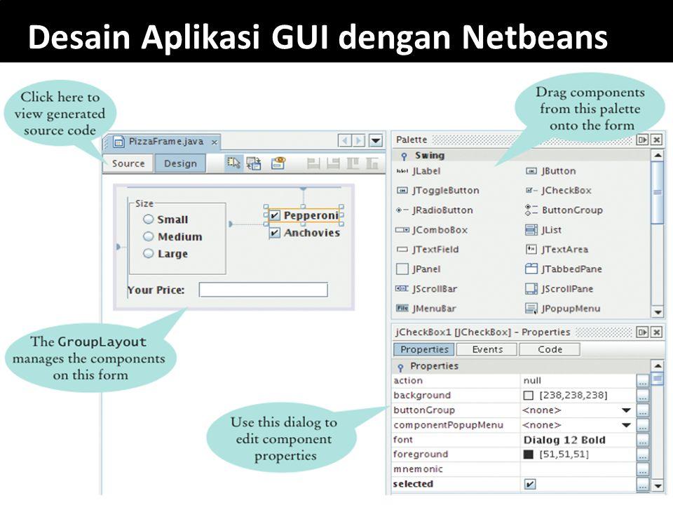 Desain Aplikasi GUI dengan Netbeans