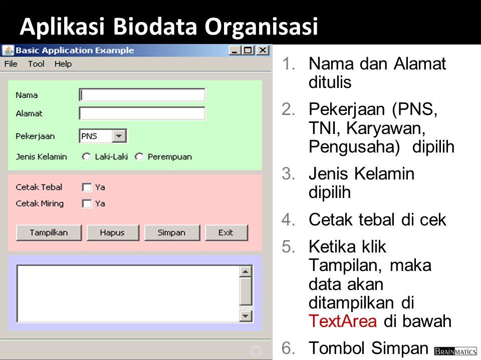 Aplikasi Biodata Organisasi