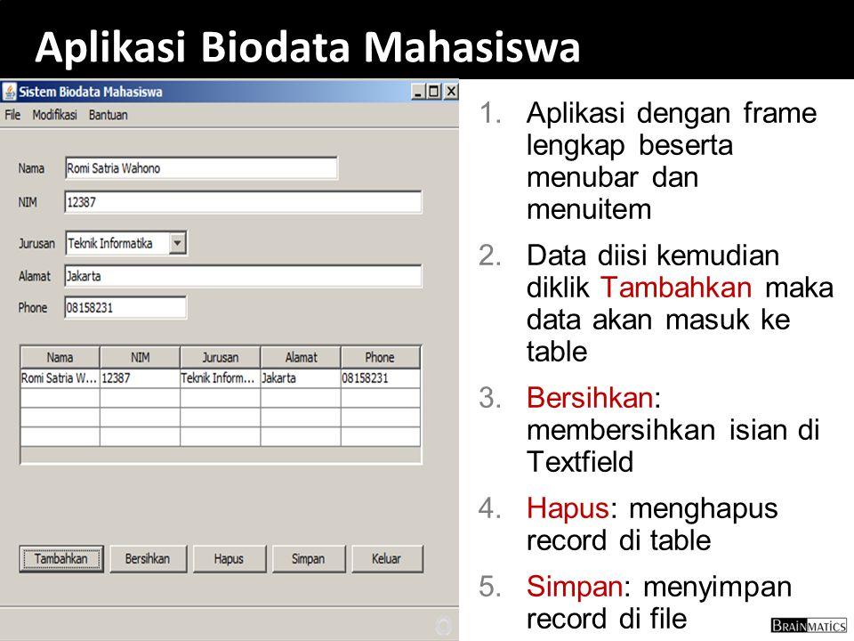 Aplikasi Biodata Mahasiswa