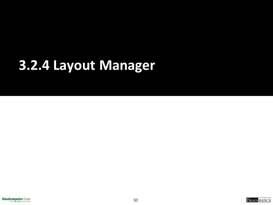 3.2.4 Layout Manager