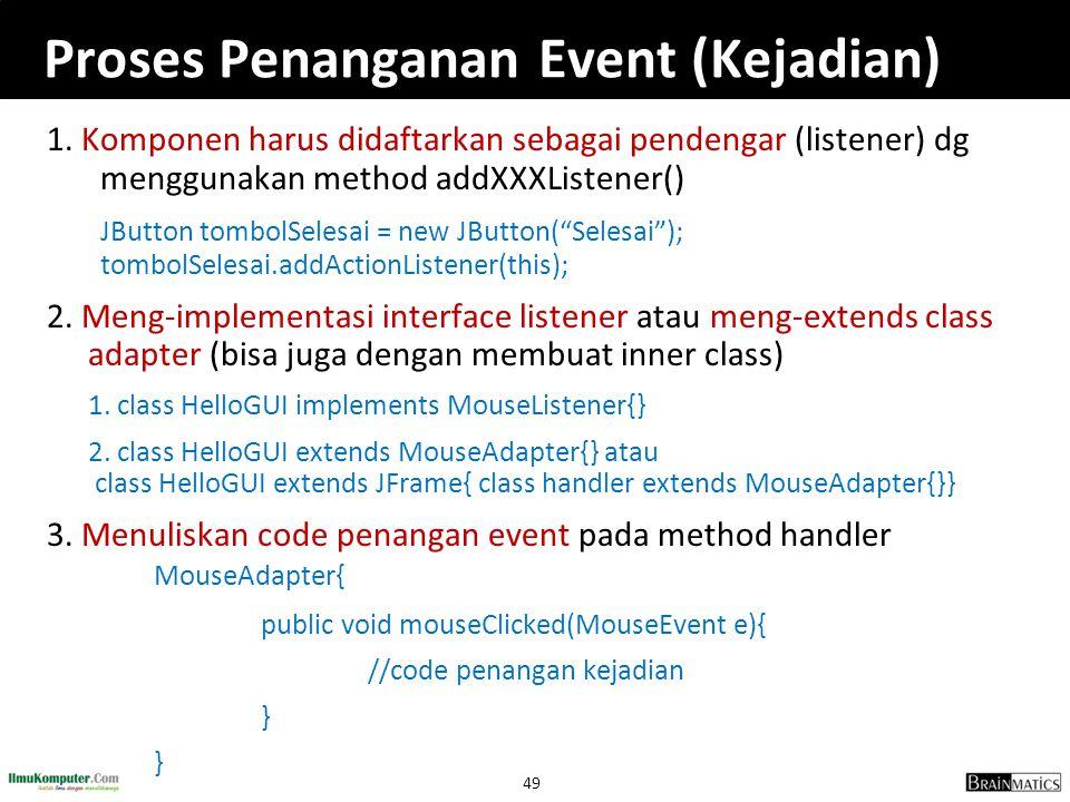 Proses Penanganan Event (Kejadian)