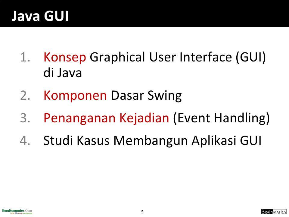 Java GUI Konsep Graphical User Interface (GUI) di Java
