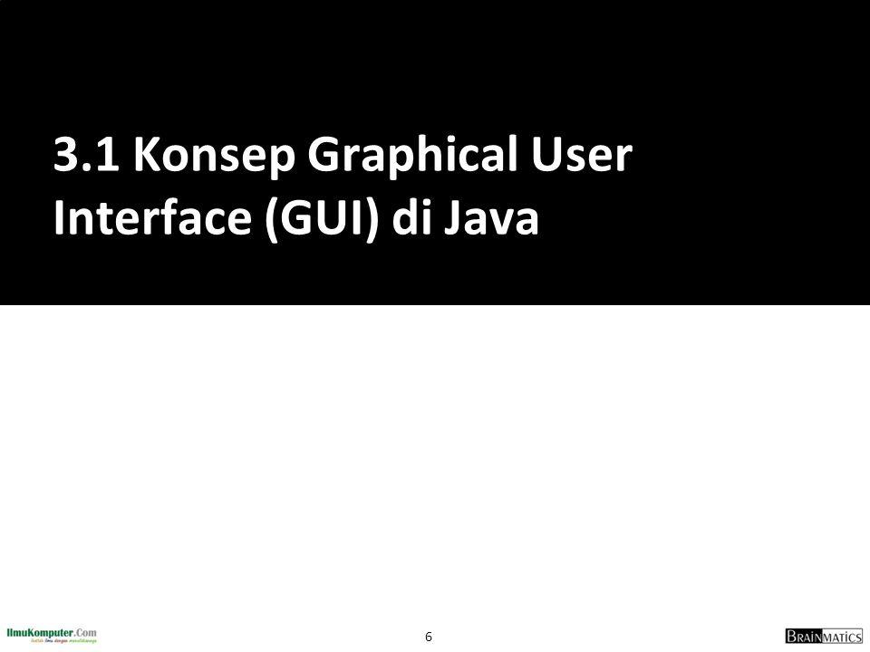 3.1 Konsep Graphical User Interface (GUI) di Java