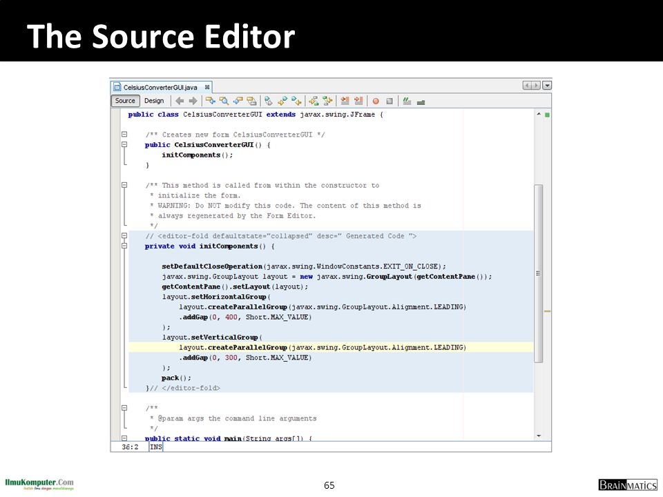 The Source Editor