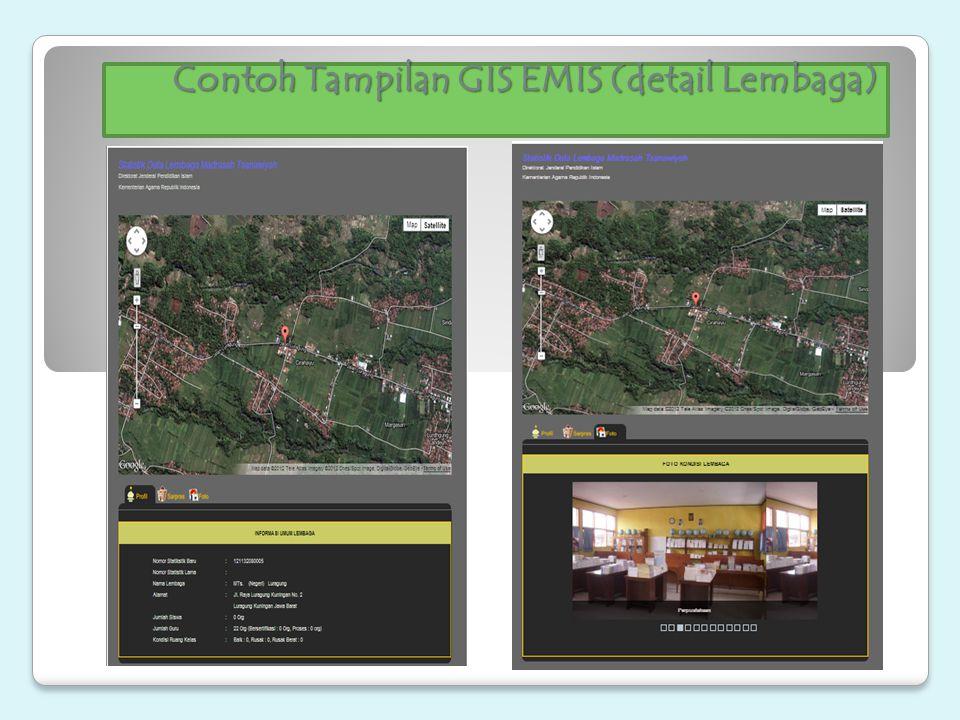 Contoh Tampilan GIS EMIS (detail Lembaga)
