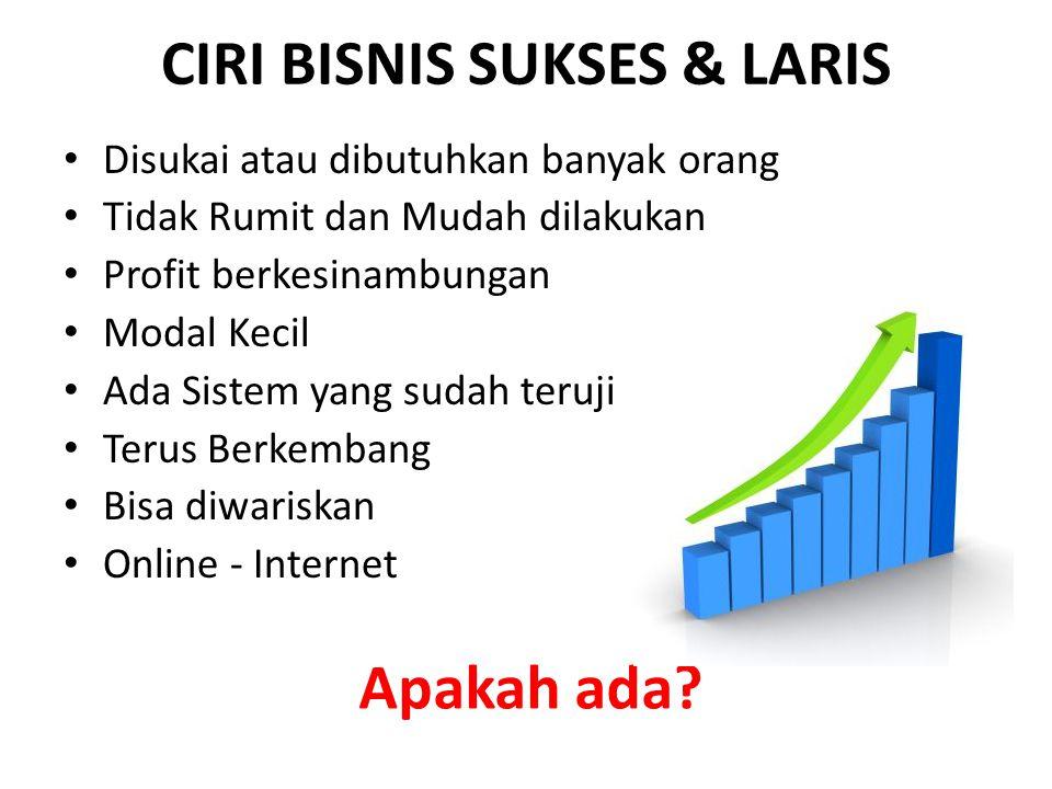 CIRI BISNIS SUKSES & LARIS
