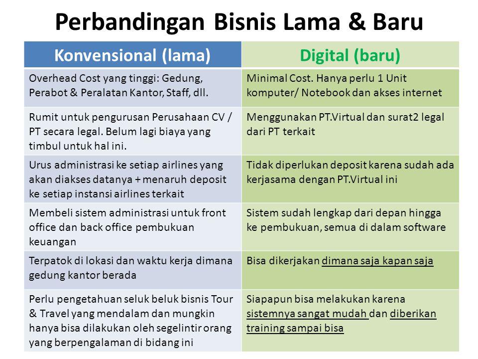 Perbandingan Bisnis Lama & Baru