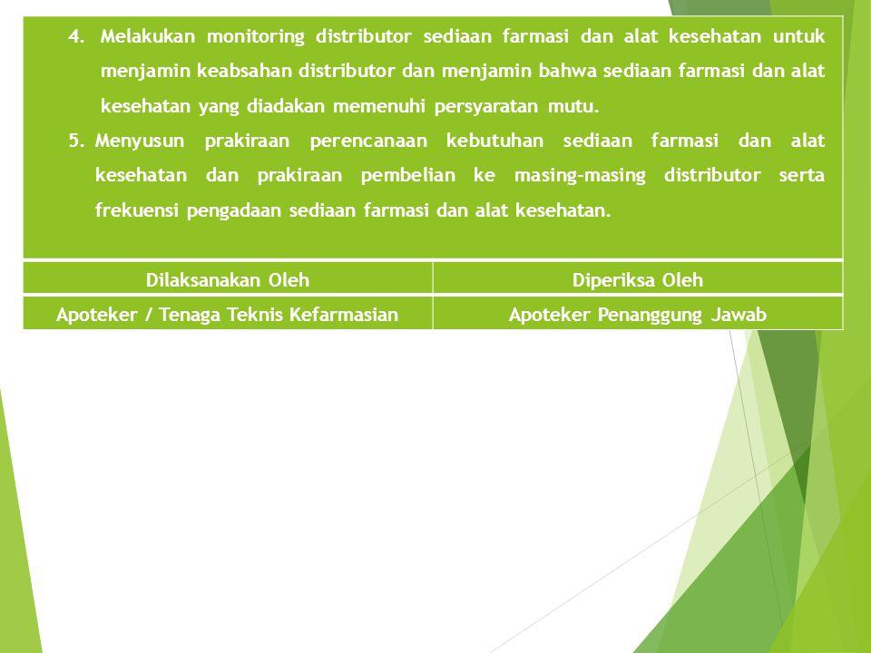 Apoteker / Tenaga Teknis Kefarmasian Apoteker Penanggung Jawab