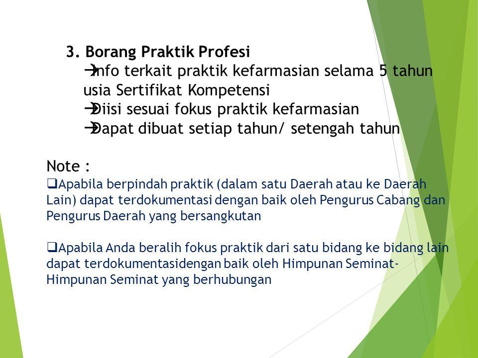 3. Borang Praktik Profesi