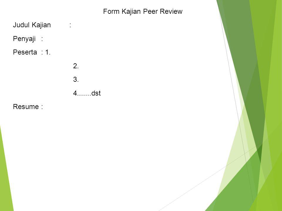 Form Kajian Peer Review