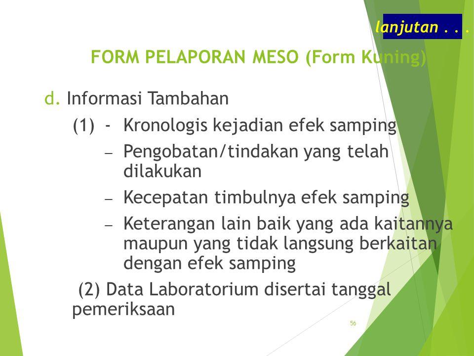 FORM PELAPORAN MESO (Form Kuning)