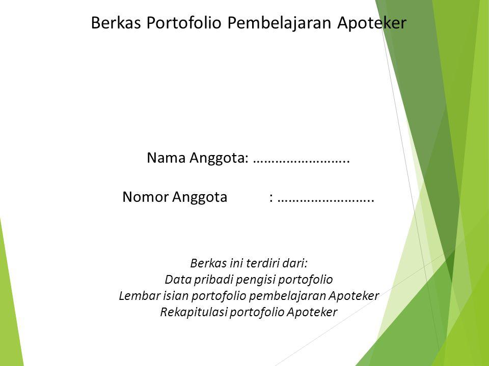 Berkas Portofolio Pembelajaran Apoteker