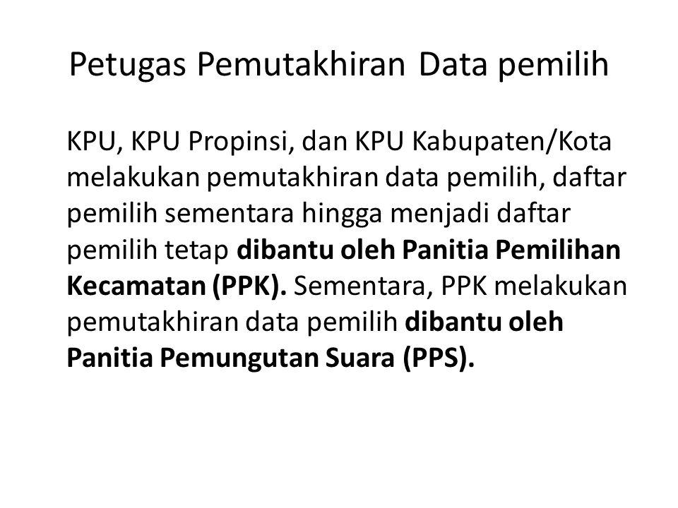 Petugas Pemutakhiran Data pemilih