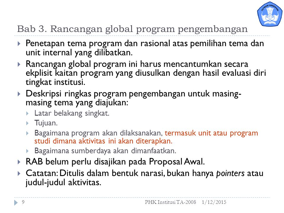 Bab 3. Rancangan global program pengembangan