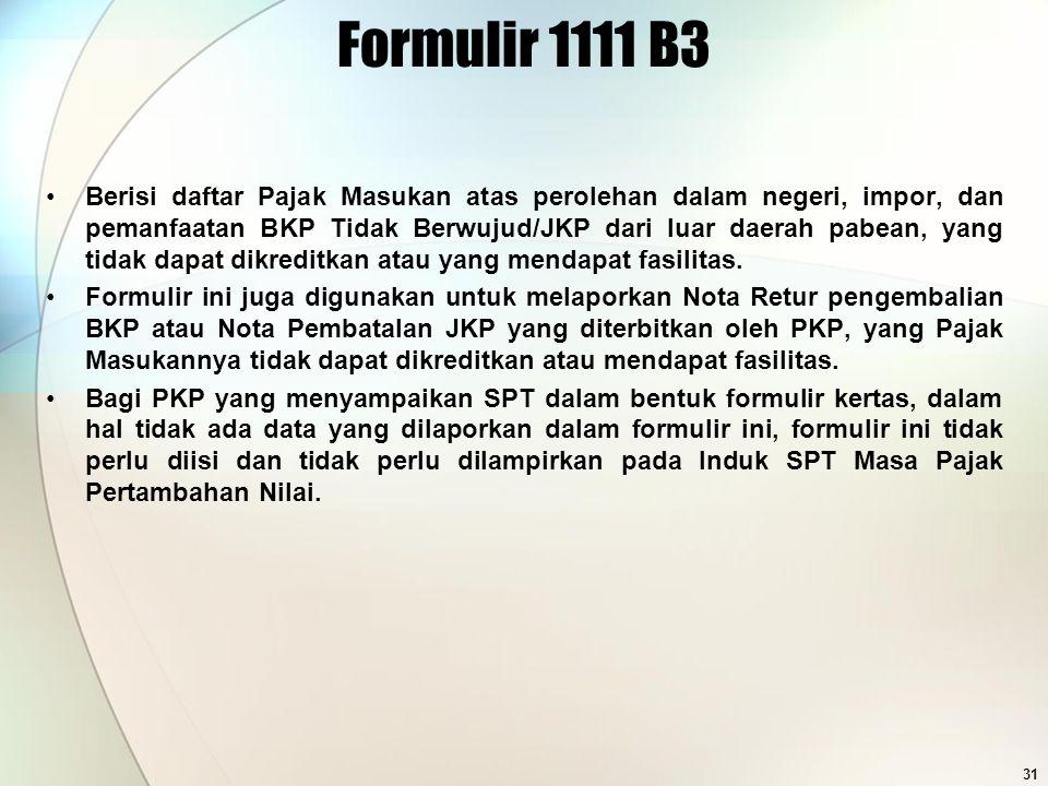 Formulir 1111 B3