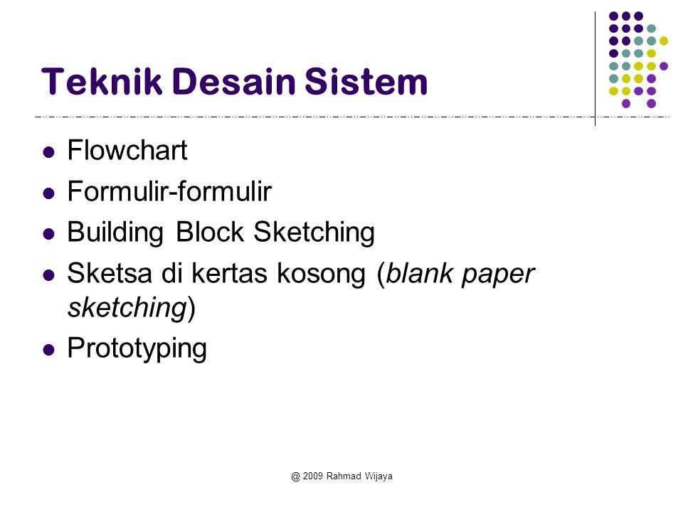 Teknik Desain Sistem Flowchart Formulir-formulir