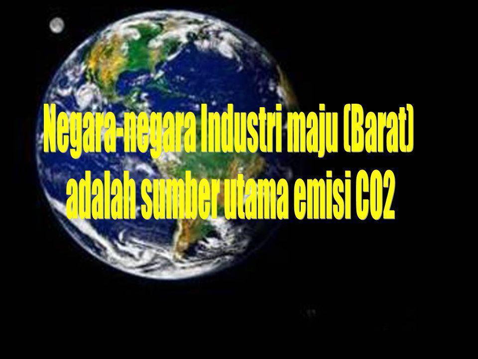 Negara-negara Industri maju (Barat) adalah sumber utama emisi CO2