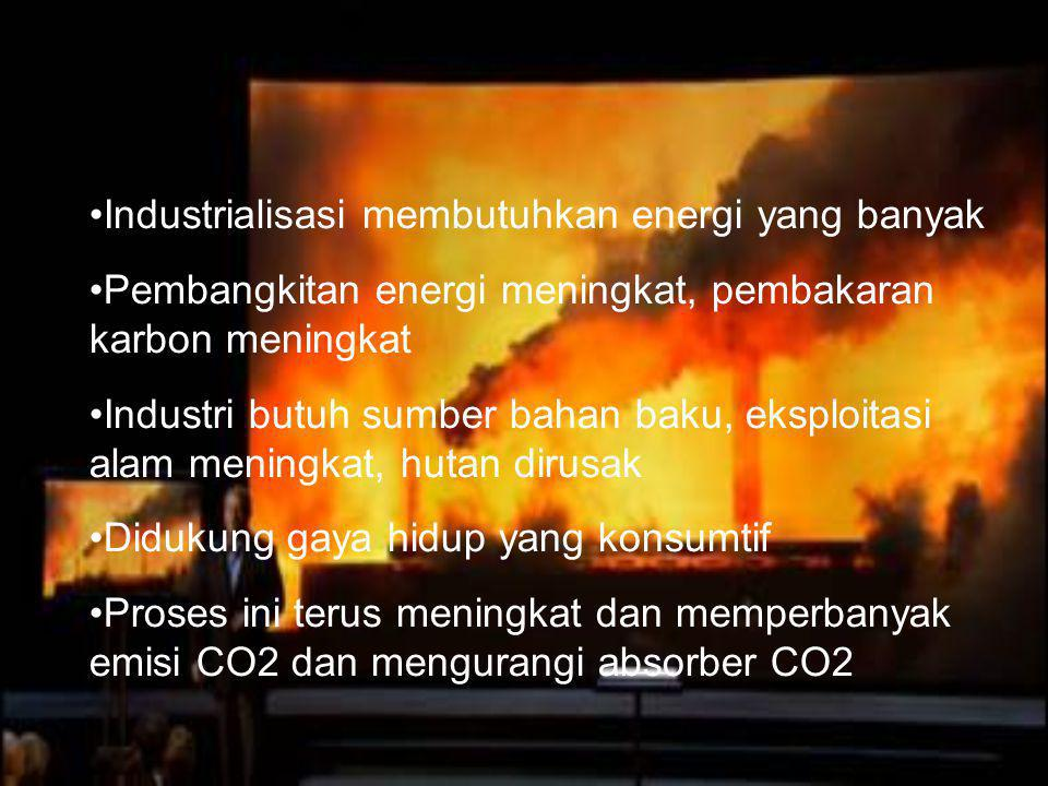 Industrialisasi membutuhkan energi yang banyak