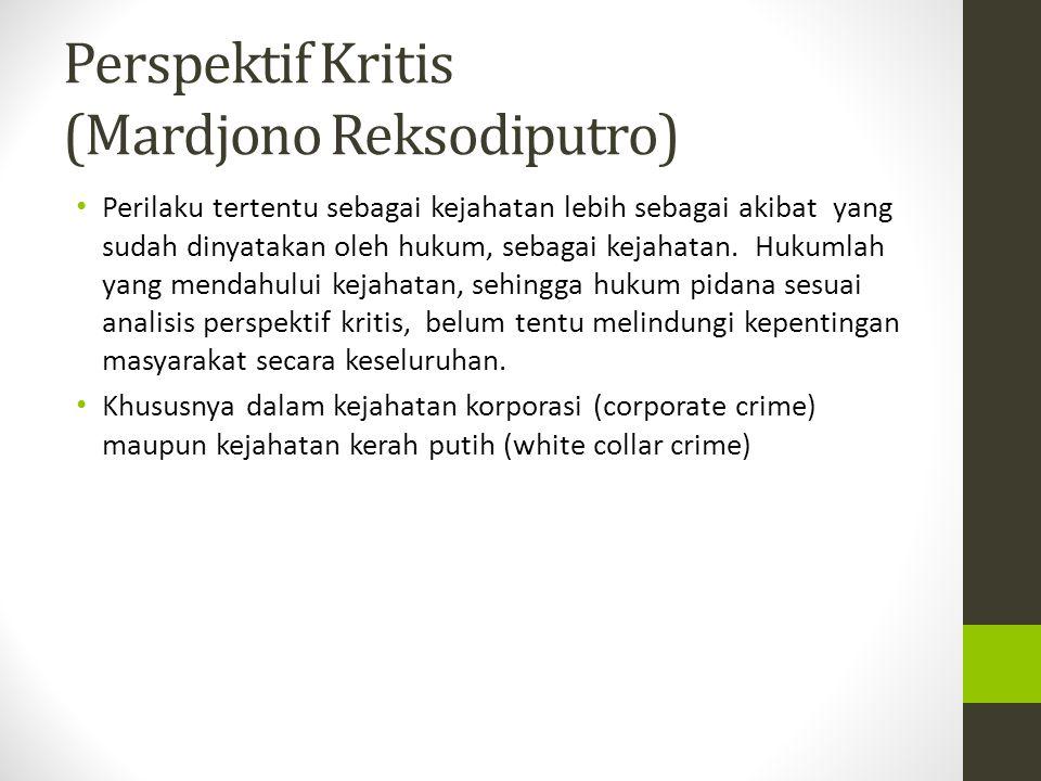 Perspektif Kritis (Mardjono Reksodiputro)