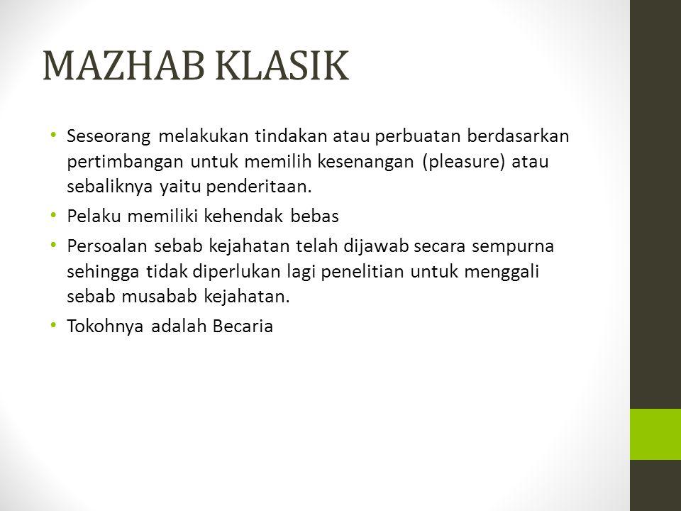 MAZHAB KLASIK