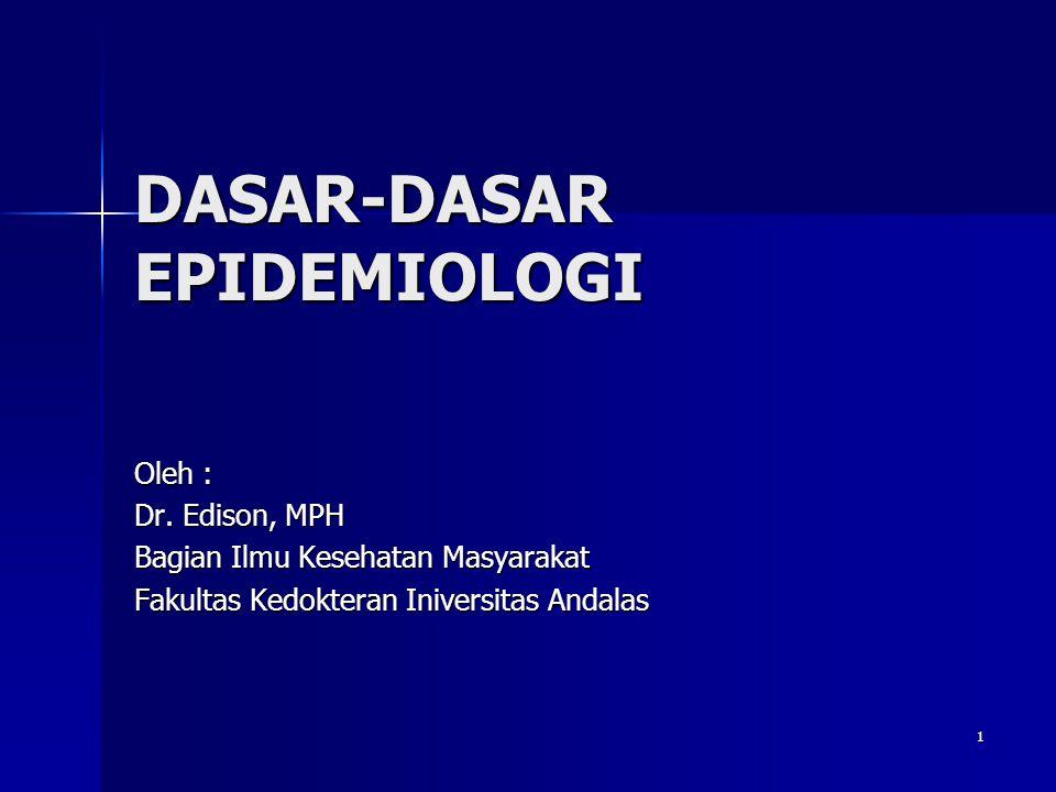 DASAR-DASAR EPIDEMIOLOGI