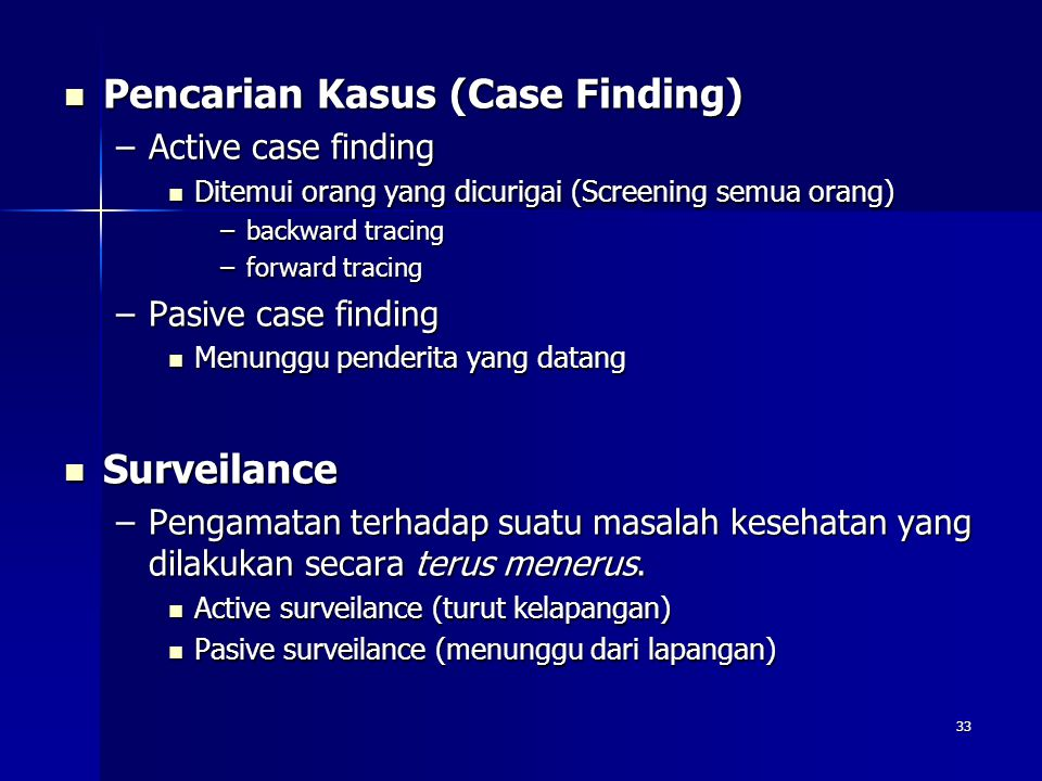 Pencarian Kasus (Case Finding)