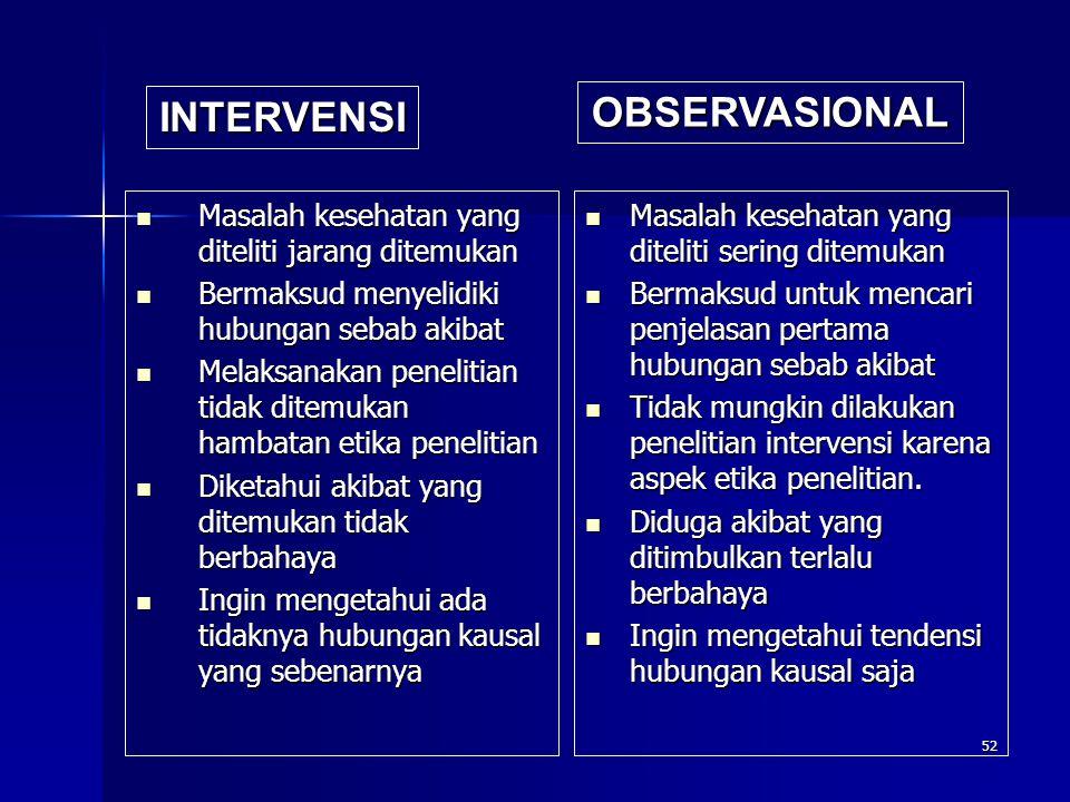 INTERVENSI OBSERVASIONAL