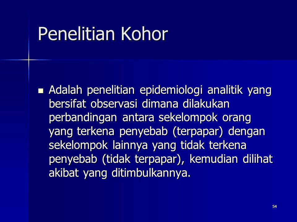 Penelitian Kohor