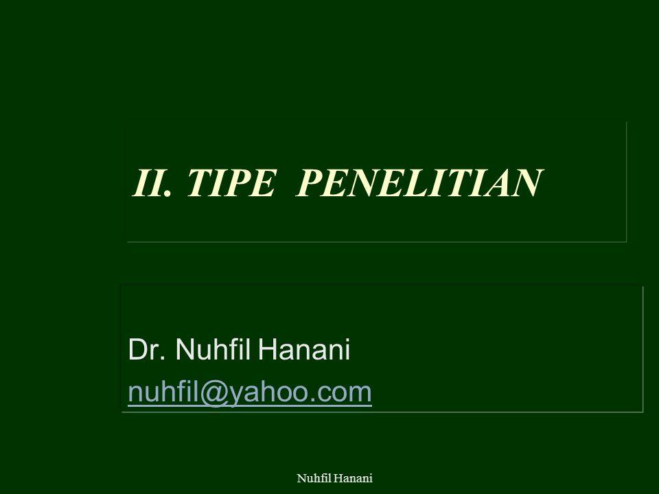 Dr. Nuhfil Hanani nuhfil@yahoo.com