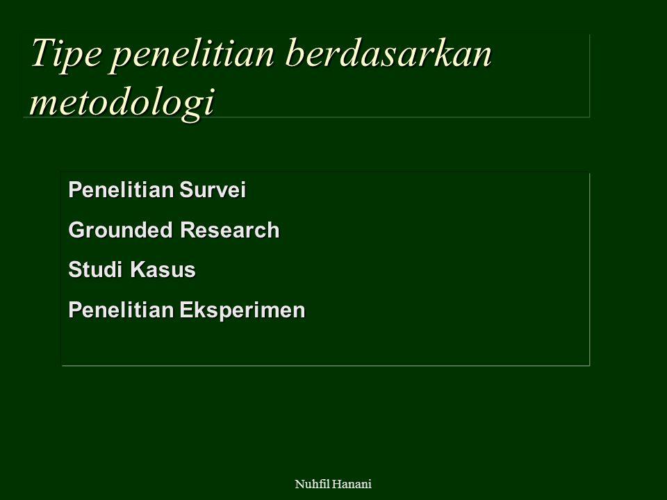 Tipe penelitian berdasarkan metodologi