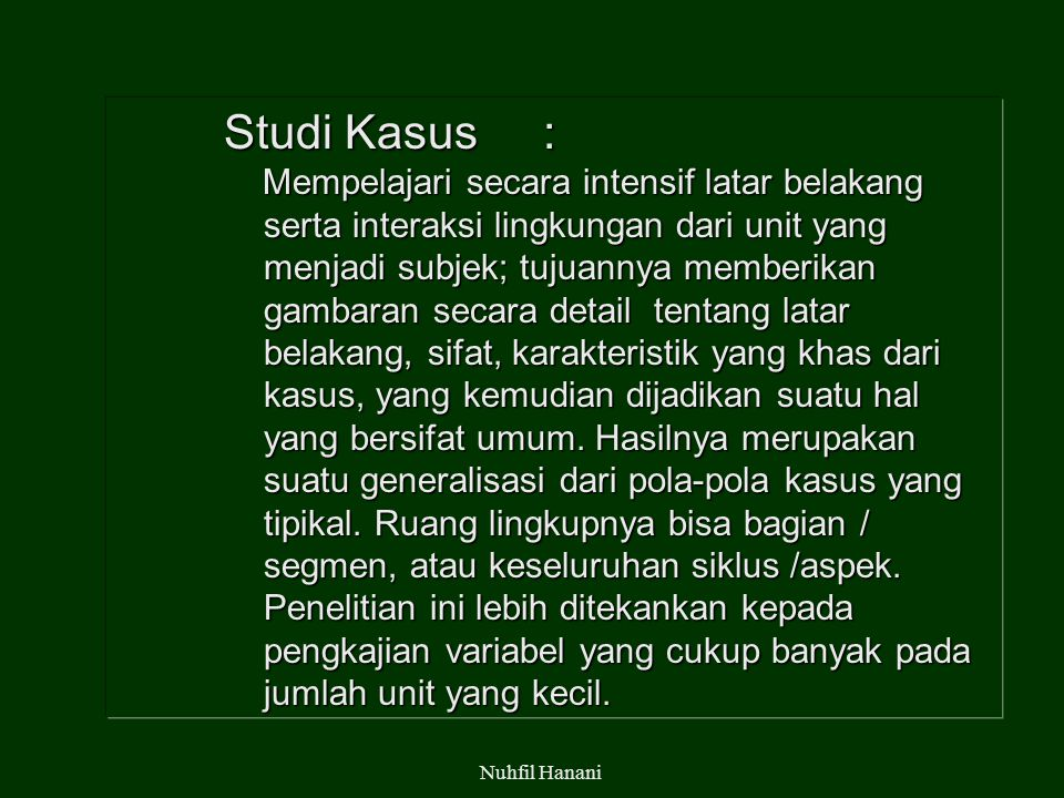Studi Kasus :