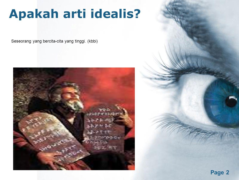 Apakah arti idealis Free Powerpoint Templates Page 2