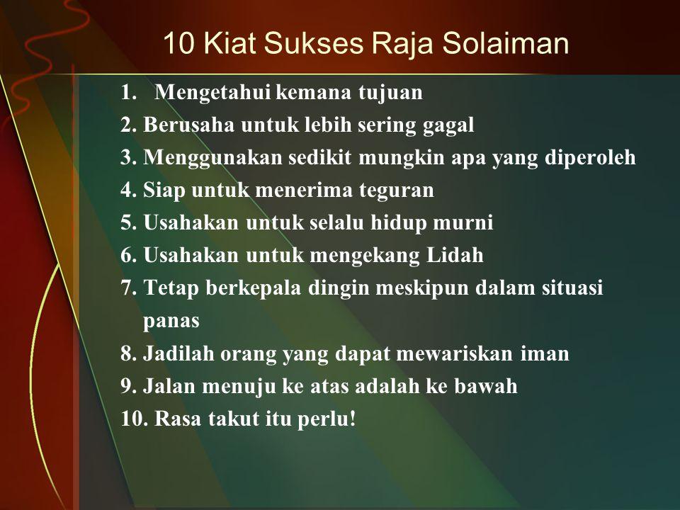 10 Kiat Sukses Raja Solaiman
