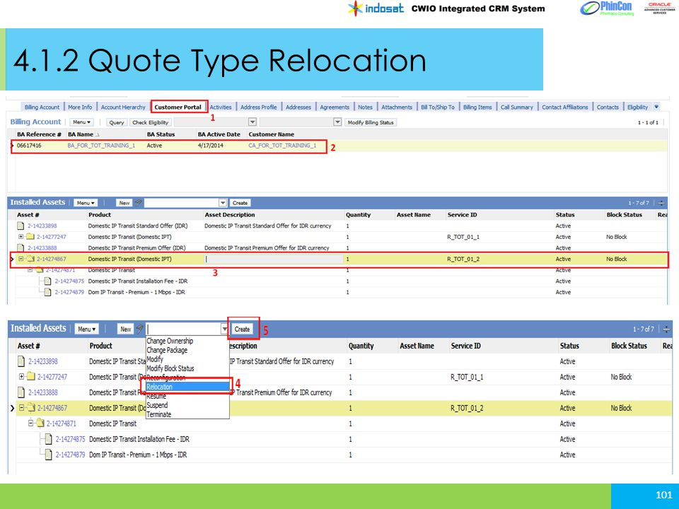 4.1.2 Quote Type Relocation
