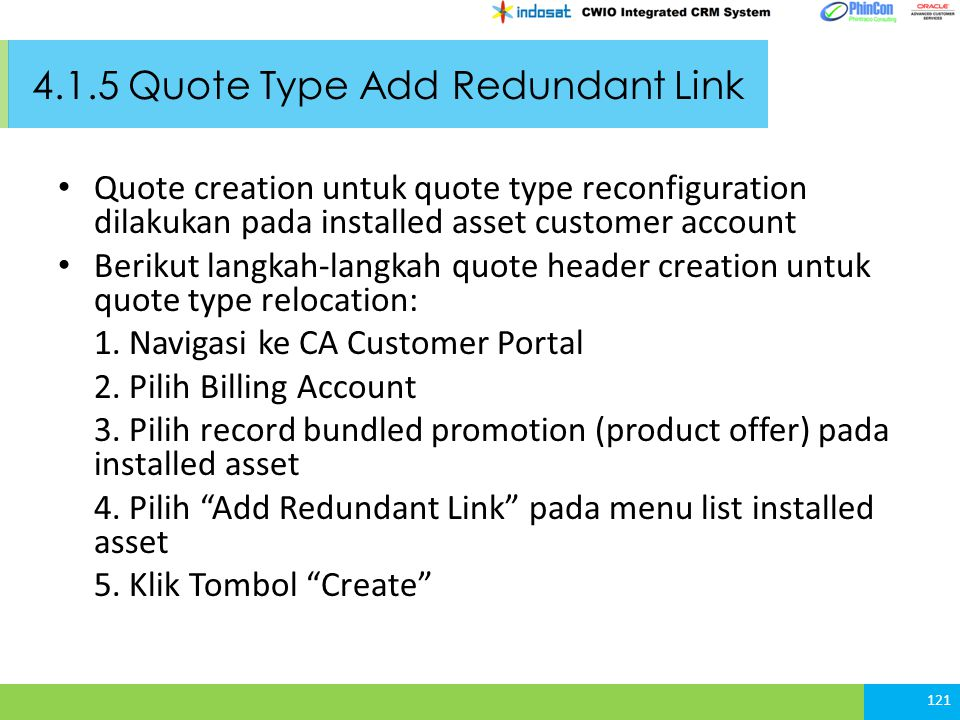 4.1.5 Quote Type Add Redundant Link