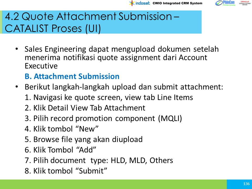 4.2 Quote Attachment Submission – CATALIST Proses (UI)