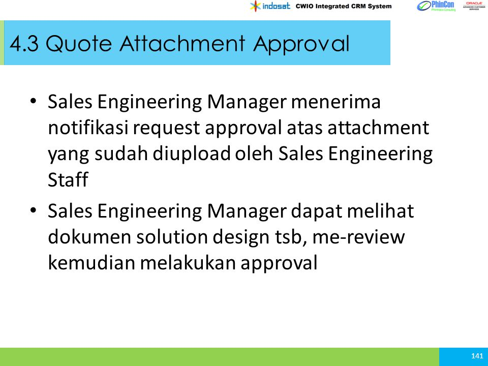 4.3 Quote Attachment Approval