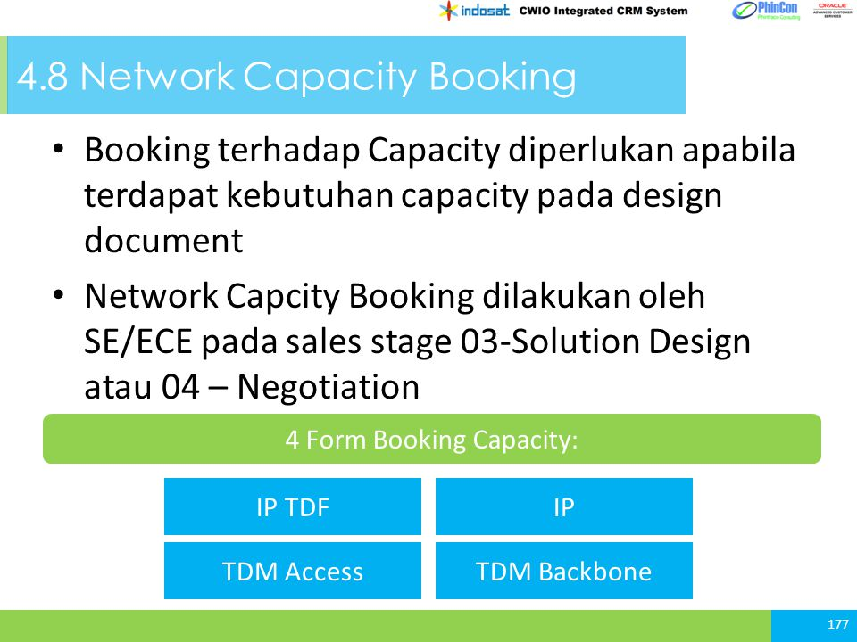 4.8 Network Capacity Booking