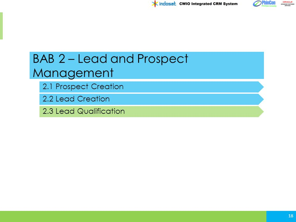 BAB 2 – Lead and Prospect Management